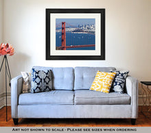 Load image into Gallery viewer, Framed Print, San Francisco Panoramw Golden Gate Bridge