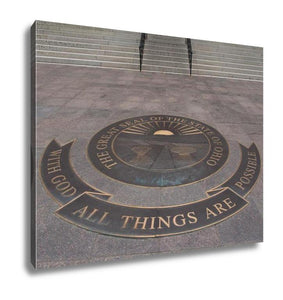 Gallery Wrapped Canvas, Ohio State Seal