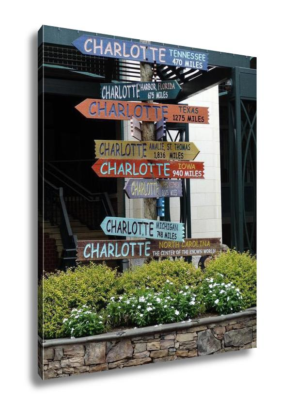 Gallery Wrapped Canvas, Charlotte North Carolina