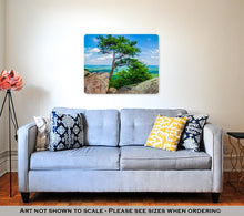 Load image into Gallery viewer, Metal Panel Print, Beautiful Aerial Landscape Views From Crowders Mountain North