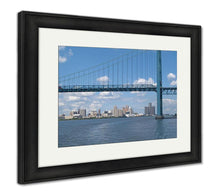 Load image into Gallery viewer, Framed Print, Detroit River Crossing