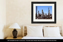 Load image into Gallery viewer, Framed Print, Gas And Oil Refinery Plant Complex Near Detroit