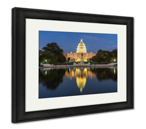 Framed Print, Us Capital Building In Washington Dc USA