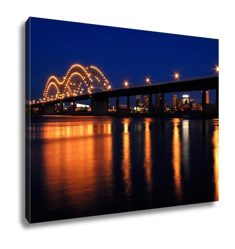 Gallery Wrapped Canvas, Memphis Bridge Over Mississippi River