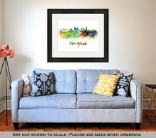 Load image into Gallery viewer, Framed Print, Memphis Skyline In Watercolor