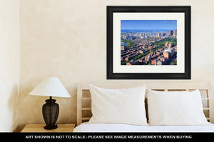 Framed Print, Boston Aerial View