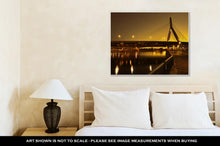 Load image into Gallery viewer, Gallery Wrapped Canvas, Boston Zakim Bridge Sunset In Bunker Hill Massachusetts USA