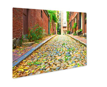 Load image into Gallery viewer, Metal Panel Print, Historic Acorn Street At Beacon Hill Neighborhood Boston Us