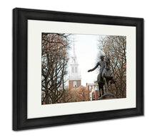Load image into Gallery viewer, Framed Print, Paul Revere Statue Boston
