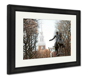 Framed Print, Paul Revere Statue Boston
