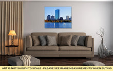 Load image into Gallery viewer, Gallery Wrapped Canvas, Boston Massachusetts Skyline Behind Charles River