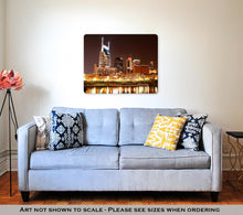 Load image into Gallery viewer, Metal Panel Print, Nashville At Night