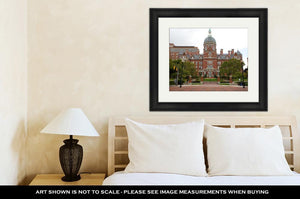 Framed Print, Baltimore Johns Hopkins Hospital