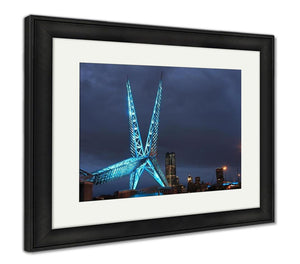 Framed Print, Oklahoma City Skydance Bridge