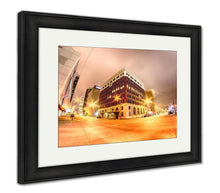 Load image into Gallery viewer, Framed Print, Oklahomcity Tulscity Skyline Around Downtown Streets