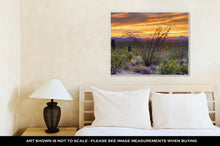 Load image into Gallery viewer, Gallery Wrapped Canvas, Sonoran Desert Catching Days Last Rays Near Tucson