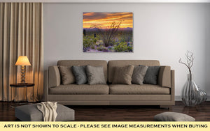 Gallery Wrapped Canvas, Sonoran Desert Catching Days Last Rays Near Tucson