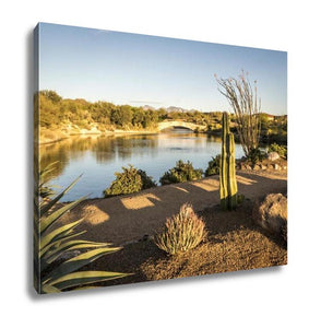 Gallery Wrapped Canvas, Desert Landscape In Tucson Arizona