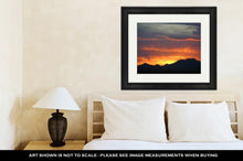 Load image into Gallery viewer, Framed Print, Amazing Mountain Sunset