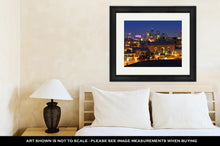 Load image into Gallery viewer, Framed Print, Night Time Image Of Kansas City Missouri Skyline