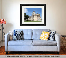 Load image into Gallery viewer, Framed Print, Kansas State Capitol