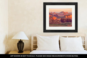Framed Print, Sunrise At Hunts Mesviewpoint