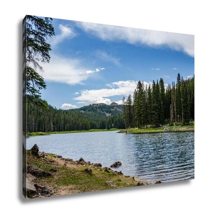 Gallery Wrapped Canvas, Colorado Mountain Lake
