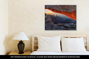 Gallery Wrapped Canvas, Sunrise Mesarch Canyonlands National Park Near Moab Utah USA