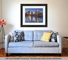 Load image into Gallery viewer, Framed Print, Atlantgeorgiusmidtown Skyline From Piedmont Park