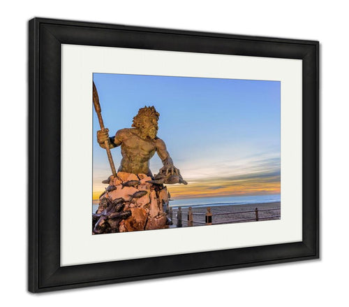 Framed Print, King Neptune At Neptune Park Virginibeach