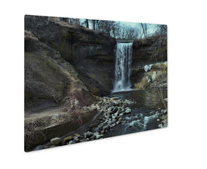 Metal Panel Print, Minnehahfalls In Minneapolis Minnesotduring Spring