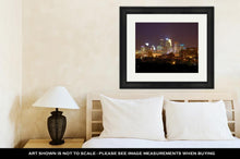 Load image into Gallery viewer, Framed Print, Minneapolis Skyline At Night