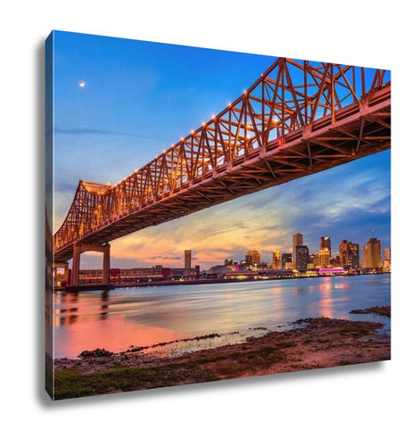 Gallery Wrapped Canvas, New Orleans Louisianusat Crescent City Connection Bridge Over