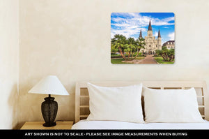 Metal Panel Print, New Orleans Louisianusat Jackson Square And St Louis Cathedral