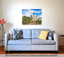 Load image into Gallery viewer, Metal Panel Print, New Orleans Louisianusat Jackson Square And St Louis Cathedral