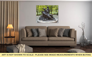 Gallery Wrapped Canvas, Washington July 14 2010 Memorial Statues Vietnam War Women Nurse Dc USA