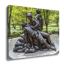 Load image into Gallery viewer, Gallery Wrapped Canvas, Washington July 14 2010 Memorial Statues Vietnam War Women Nurse Dc USA