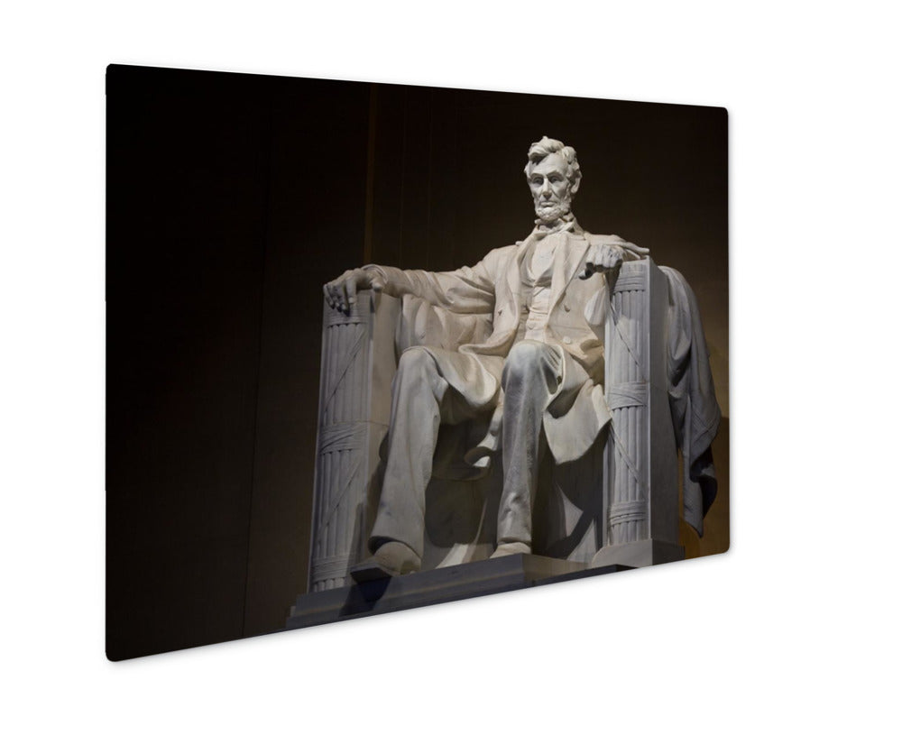 Metal Panel Print, Abraham Lincoln Statue In Lincoln Memorial Washington Dc