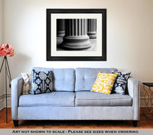 Load image into Gallery viewer, Framed Print, Closeup Of Classic Columns In Black And White