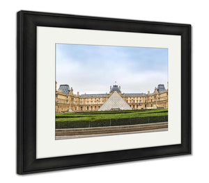 Framed Print, The Louvre Museum In Paris