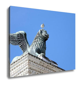 Gallery Wrapped Canvas, Winged Lion Statue Piazzsan Marco Venice Seagull Head