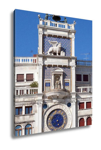 Gallery Wrapped Canvas, Clock Tower San Marcos Square Venice Italy