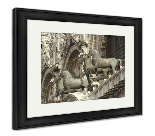 Framed Print, Horses Of St Marks In Venice