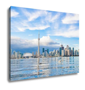 Gallery Wrapped Canvas, Toronto Skyline On Sunny Day Canada