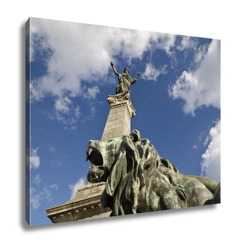 Gallery Wrapped Canvas, Freedom Tower Monument Of Freedom In City Ruse Bulgaria