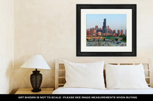Load image into Gallery viewer, Framed Print, Busy Highway I94 Heading To Chicago Downtown
