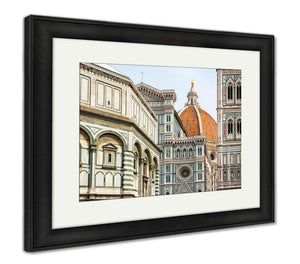 Framed Print, Cathedral Of Santmaridel Fiore Duomo Florence Italy