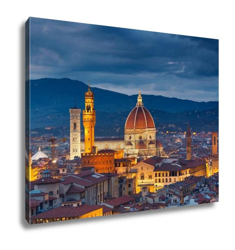 Gallery Wrapped Canvas, Cathedral Of Santmaridel Fiore Duomo Cathedral In Florence Italy