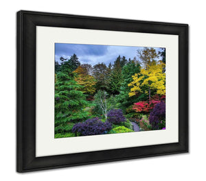Framed Print, Butchart Gardens Set Amazingly Beautiful Gardens On Vancouver