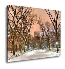 Load image into Gallery viewer, Gallery Wrapped Canvas, Central Park Night New York City